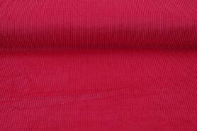 Ribcord en velvet - NB 3044-017 Ribcord medium fuchsia