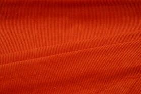 Meubelstoffen - NB 3044-036 Ribcord medium oranje