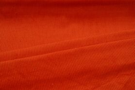 Ribcord en velvet - NB 3044-036 Ribcord medium oranje