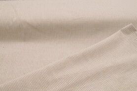 Meubelstoffen - NB 3044-052 Ribcord medium beige