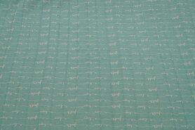 Polytex stoffen uitverkoop - Ptx18/19 458005-72 Tricot hydrophilic cotton fantasie mint