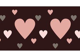 Paars - NB 10669-014 Boord/manchet cuff jacquard aubergine/roze