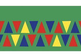 Boorden / Manchetten - NB 10670-015 Boord/manchet cuff jacquard triangles groen