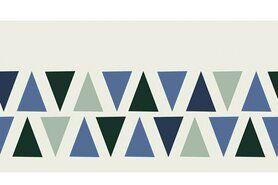 Bündchen / Manchetten - NB 10670-025 Boord/manchet cuff jacquard triangles mint