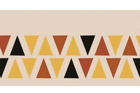 Boorden / Manchetten - NB 10670-056 Boord/manchet cuff jacquard triangles terra