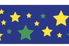 Boorden / Manchetten - NB 10671-015 Boord/manchet cuff jacquard stars kobaltblauw