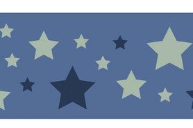 Boorden / Manchetten - NB 10671-025 Boord/manchet cuff jacquard stars blauw