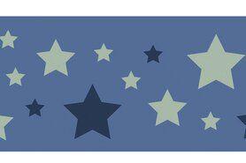 Bündchen / Manchetten - NB 10671-025 Boord/manchet cuff jacquard stars blauw