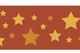 Boorden / Manchetten - NB 10671-056 Boord/manchet cuffs jacquard stars terra