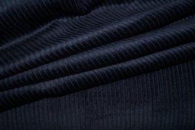 Ribcord en velvet - NB 3044-008 Ribcord medium donkerblauw