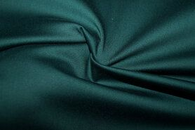 Katoen, viscose, elastan - KN 0748-200 Satin stretch donkergroen
