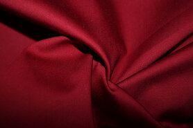 Katoen, viscose, elastan - KN 0748-400 Satin stretch bordeaux