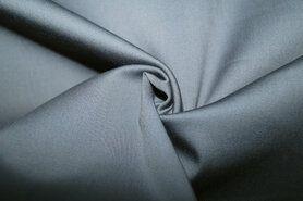 Katoen, viscose, elastan - KN 0748-950 Satin stretch grijs