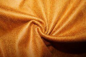 Kunstleer en suedine - KN 0541-571 Unique leather oker/caramel