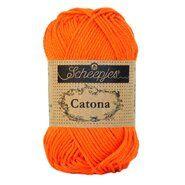 Haak- en breigaren - Catona 189 Royal Orange 50GR