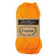 Strick- und Häkelgarne - Catona 281 Tangerine 50GR