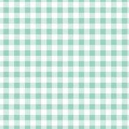 Geruite stof - ByPoppy19 3087-039 Katoen ruitje 0.8cm azure
