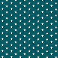 Zeegroen - ByPoppy19 4955-023 Katoen little stars zeegroen