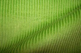Ribcord und Velvet - NB 3044-023 Cordstoff medium apfelgrün