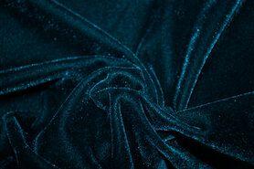 Winter - NB 3348-124 Fluweel rekbaar blauw-groen