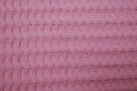 Wafelkatoen - NB 11705-014 Wafelkatoen grof blush op=op