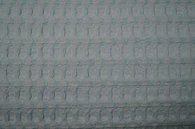 Groene wafelstoffen - NB 11705-022 Wafelkatoen grof icemint
