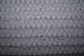 Wafelkatoen - NB 11705-067 Wafelkatoen grof grijs