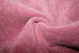 Badstoffen - NB 11707-014 Rekbare badstof oudroze