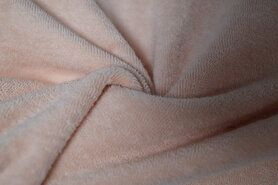 80% katoen, 20% polyester - NB 11707-037 Rekbare badstof zalm