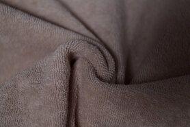 80% katoen, 20% polyester - NB 11707-053 Rekbare badstof donkerbeige