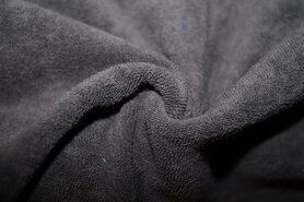 Badstoffen - NB 11707-054 Rekbare badstof taupe/grijs