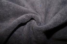 Frottee - NB 11707-054 Rekbare badstof donkergrijs