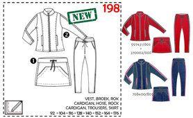 Abacadabra - Abacadabra Muster 198: Cardigan, Hose, Rock