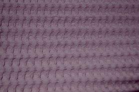 Paarse stoffen - NB 11705-012 Wafelkatoen grof lila-roze