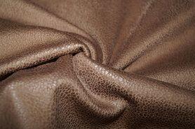 Kunstleer en suedine - KN 0541-097 Unique leather bruin