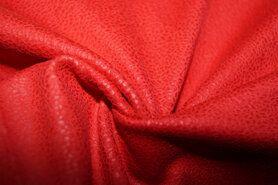 Kunstleer en suedine - KN 0541-425 Unique leather rood