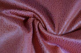 Kunstleer en suedine - KN19 0541-525 Unique leather donker koraal