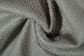 Kunstleer en suedine - KN 0541-950 Unique leather grijs