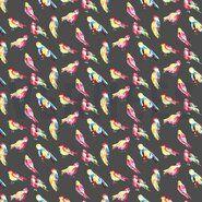 By Poppy - ByPoppy19 5766-002 Tricot digitaal aquarelle birds grijs/multi