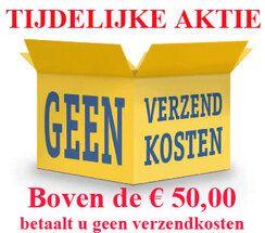 Boven de € 50,00 geen verzendkosten