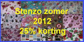 25% KORTING op STENZO ZOMER 2012
