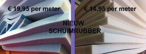 NIEUW! SCHUIMRUBBER