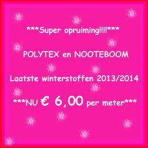 Super SALE, Polytex en Nooteboom winter 13/14