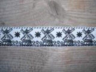 Sierband molen (2.5 cm.) zwart (A)*