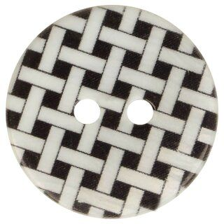 Knoop geruit zwart 5601-28*