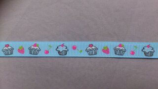 Ripslint cup cake 9 mm lichtblauw (22385/9)*