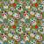 Dapper21 15807-026 Katoen bedrukt skulls groen/multi