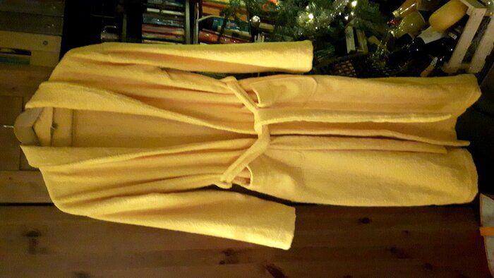 Lekker warme badjas met strikceintuur